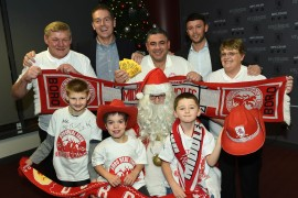 Middlesbrough and Teesside Philanthropic Foundation held their Goalden Giveaway event at the Riverside Stadium on Tuesday 8th December. 8/12/15  Pic Doug Moody Photography.
