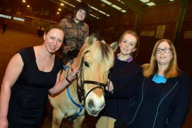 The Middlesbrough and Teesside Philanthropic Foundation made a donation to the Riding for the Disabled  Unicorn Centre in Hemlington on Thursday 7th April when patrons Sue Theobald and Emily Bentley went along to see a riding lesson in progress  7/4/16  Pic Doug Moody Photography